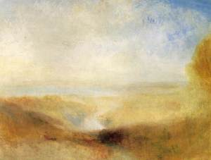 JMW Turner; Landscape with Distant River and Bay 1840-1850