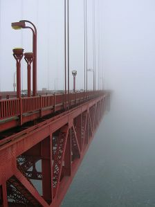 Early morning fog at the Golden Gate Bridge