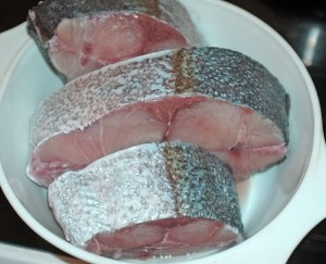 Amberjack thick slices