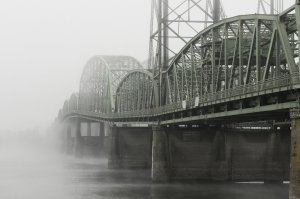 The Interstate 5 Bridge over the Columbia River in Oregon, USA