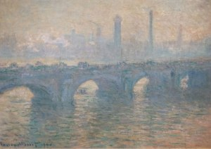 Claude Monet; Waterloo Bridge - Gray Weather; 1900; Art Institute of Chicago