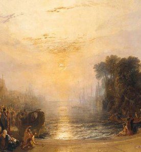 JMW Turner; The Decline of the Carthaginian Empire 1817 - detail