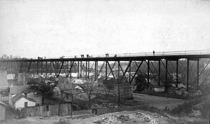 Minneapolis, Washington Avenue Bridge 1885