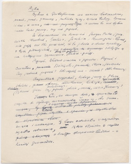 A page from Gombrowicz's diary