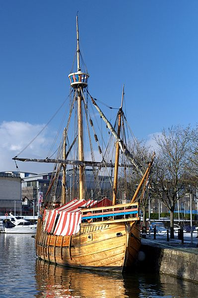 A replica of Matthew in Bristol Floating Harbour