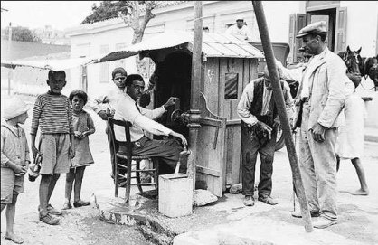 Water distribution in Athens, early 20th century