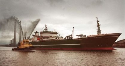 The Atlantic Dawn being escorted by pilot boats into Dublin Port in 2000. Photograph: Frank Miller/The Irish Times