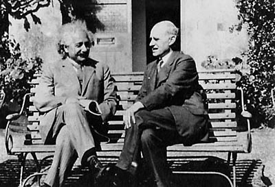 Albert Einstein and Sir Arthur Eddington at Cambridge University
