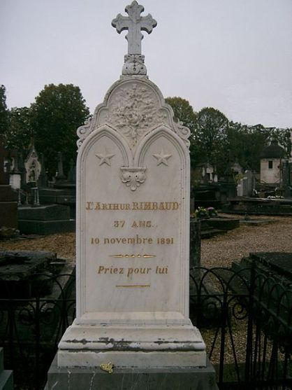 Rimbaud's tombe in Charleville