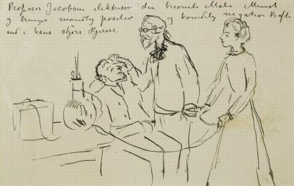 Edvard Munch, Dr. Jacobsen, and Nurse Schacke