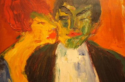 Emil Nolde: At the Night Club, 1911. Oslo National Gallery. (detail)