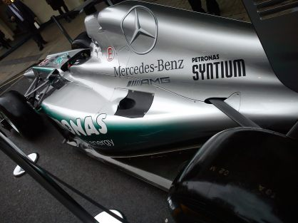 The Mercedes Benz Formula 1 Car of 2013