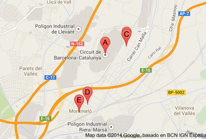 Montmelo Map