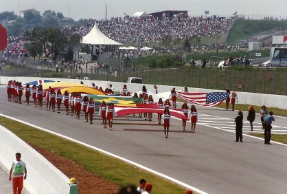 1993 Formula 1 Grand Prix - Presentation of flags