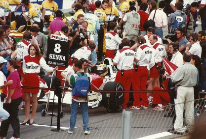 McLaren driver Ayrton Senna