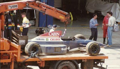 Andrea de Cesaris' car