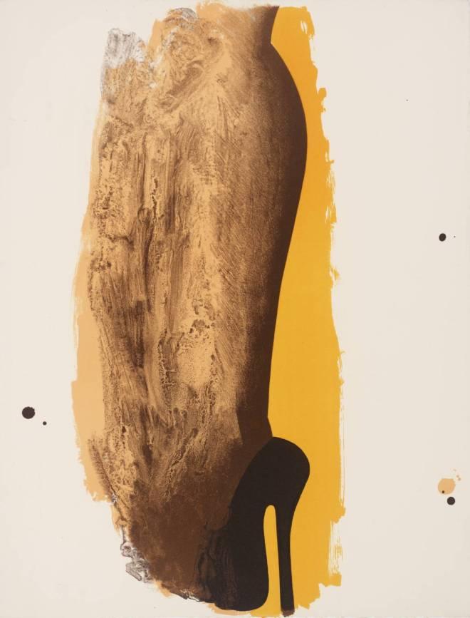 Allen Jones, Leg-Splash 1970-1,  Lithograph on paper. Tate Gallery, London.