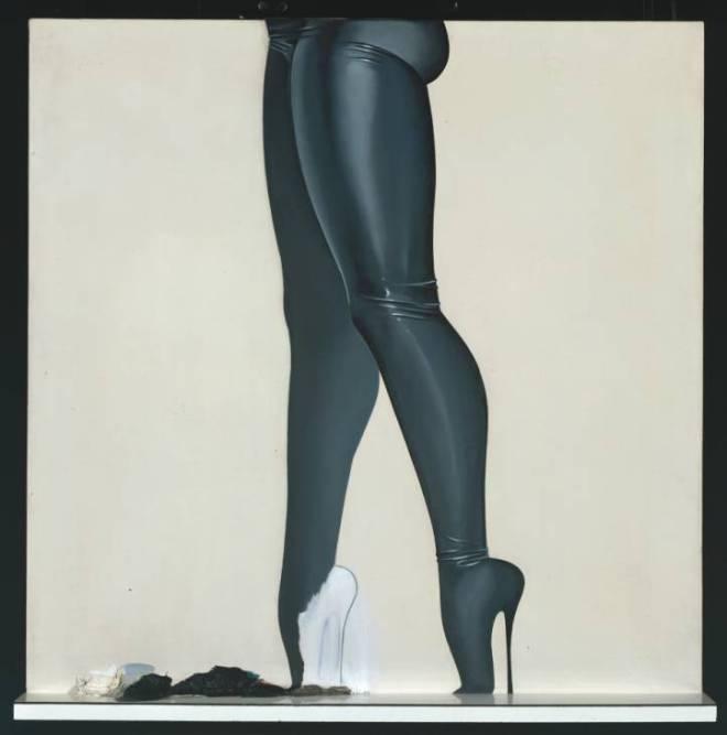 Allen Jones, Wet Seal, 1966. Oil paint on canvas, wood and melamine. Tate Gallery, London