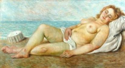 Giorgio de Chirico, Bather in the Sun, 1935. Galleria d' Arte Moderna, Torino