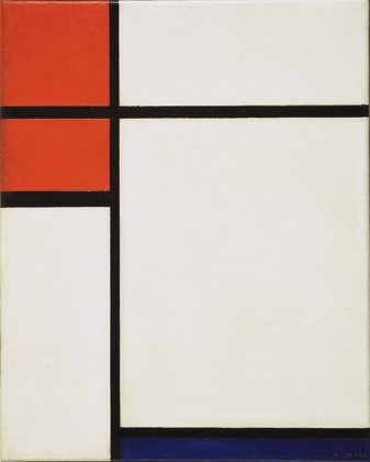 Piet Mondrian, Composition with Red and Blue