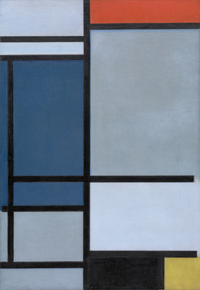 Piet Mondrian, Composition with Red, Blue, Black, Yellow, and Gray