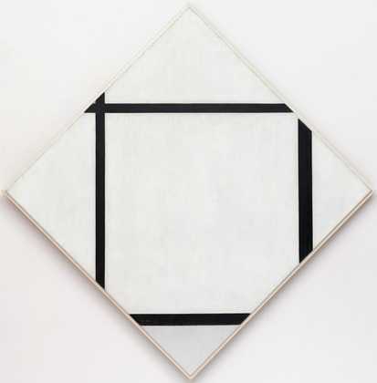 Piet Mondrian, Tableau I Lozenge with Four Lines and Gray