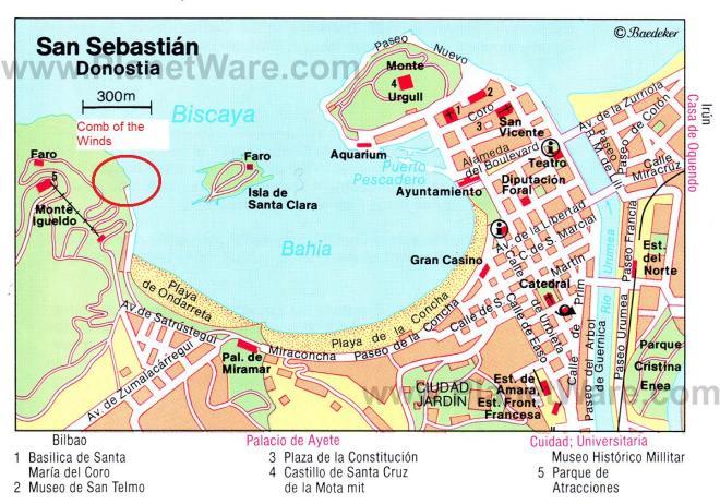 Map of San Sebastian