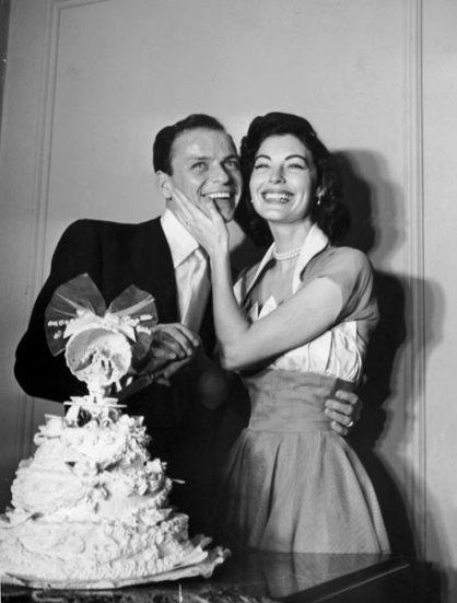 Frank Sinatra with Ava Gardner in 1951