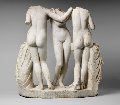 The Three Graces Roman copy of a Greek work of the second century B.C. Marble. Metropolitan Museum of Art, New York