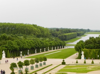 The Versailles gardens without