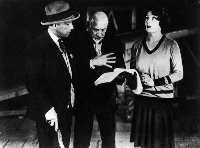Pirandello directs Marta Abba and Lamberto Picasso in