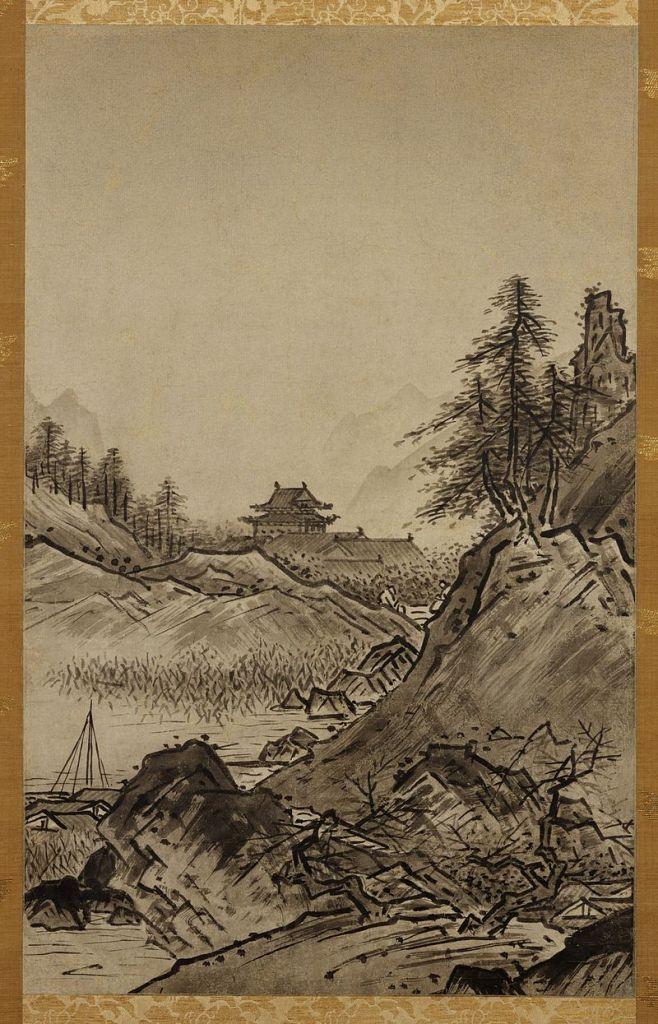 Autumn Landscape (Shūkei-sansui). Sesshū Tōyō (1420-1506), Japanese
