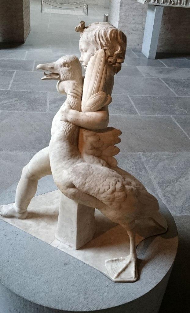 Roman copy of Hellenistic sculpture, Boy with Goose. Glyptothek, Munich.