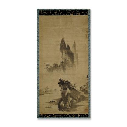 Sessō Tōyō, Haboku-style landscape, a hanging scroll painting