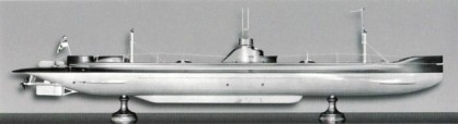 Model of U1, presented at the International Exhibition in Milan, 1906. Source: Deutsches Museum, Munich.