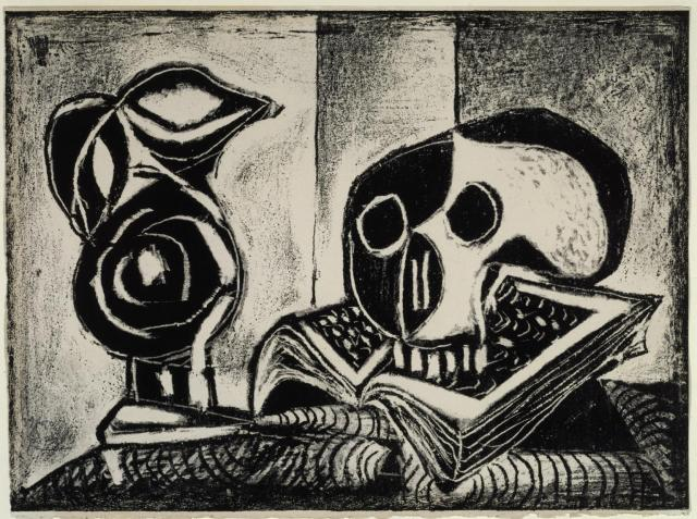 Black Jug and Skull 1946 by Pablo Picasso 1881-1973